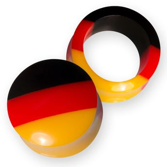 Football World Cup Flesh Tunnel & Plug Germany (4-30mm) – picture 1