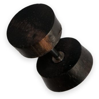 Fake Plug from buffalo horn or buffalo bone and various woods - Diameter 9mm – picture 24
