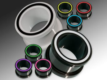 "Silicone Flesh Tunnel ""Hollow Eye"" in different colors – picture 1"