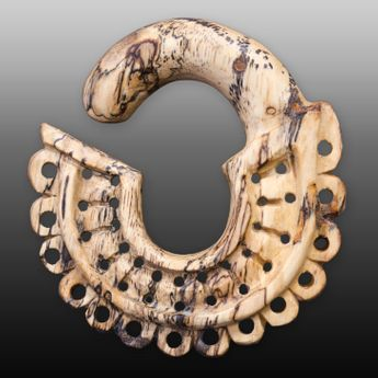 Exclusive Ear Spiral Stretcher from Zebra Tamarind Wood – picture 1