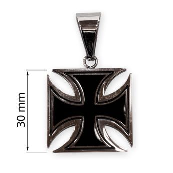 Iron Cross Stainless Steel Pendant - 3 or 4 cm – picture 3
