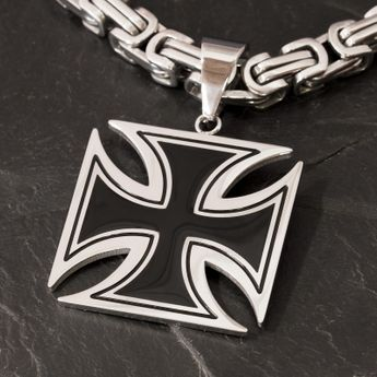 Iron Cross Stainless Steel Pendant - 3 or 4 cm – picture 1