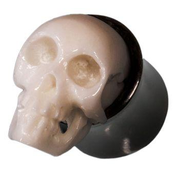 Totenkopf Horn Knochen Plug 8mm