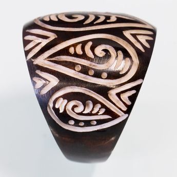 Blackened Bone Ring - Maori Tribal – picture 3