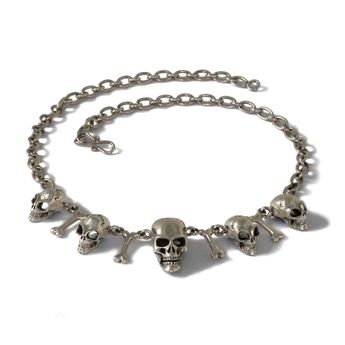 Skull Men's Chain Necklace Sterling Silver 925 (52 cm) – picture 1