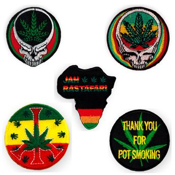 Various Patches with Hemp Leaf – picture 1