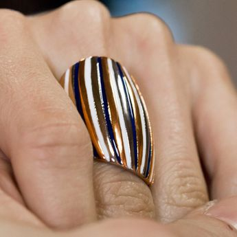 Modern Stainless Steel Design Ring - Muliticolor – picture 2