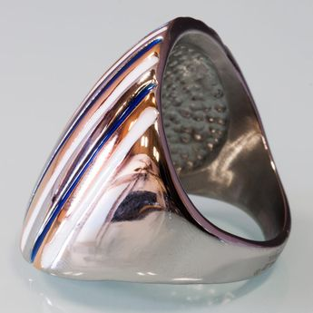 Modern Stainless Steel Design Ring - Multicolor – picture 6