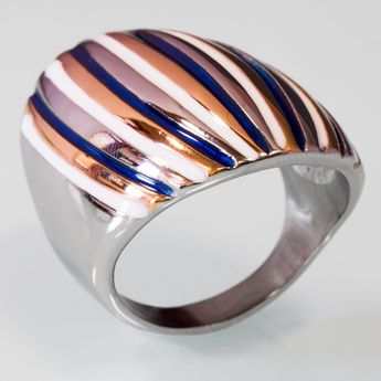Modern Stainless Steel Design Ring - Multicolor – picture 5