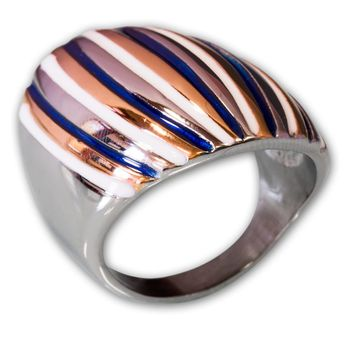 Modern Stainless Steel Design Ring - Multicolor – picture 1