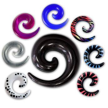 Acryl Dehnungsspirale in verschiedenen Farben – Bild 1