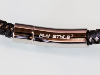 Design Bracelet / Necklace braided from Leather and Stainless Steel wire – picture 4