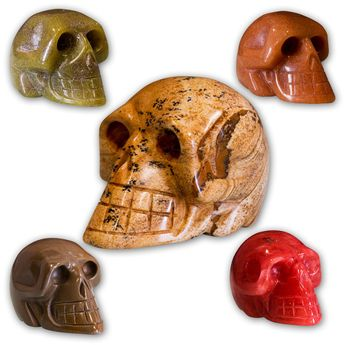 Carved Skulls from semiprecious stones – picture 1
