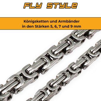 5 mm Pulsera o Collar en cadena cuadrado de acero inoxidable estilo de la realeza Bizantina – picture 6