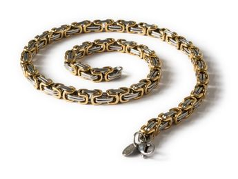 7 mm Square Stainless Steel Byzantine King Chain / Necklace or Bracelet – picture 11