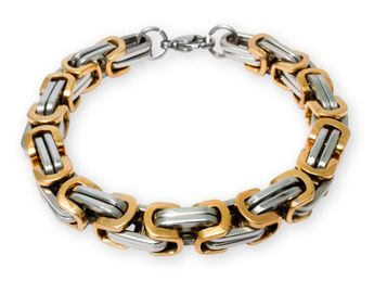 7 mm Square Stainless Steel Byzantine King Chain / Necklace or Bracelet – picture 12