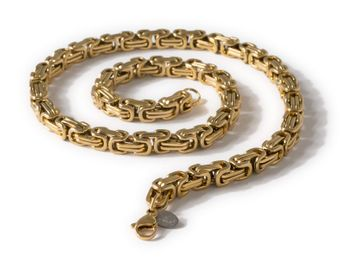 9 mm thick Square Stainless Steel Byzantine King Chain / Necklace or Bracelet – picture 7