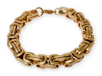 9 mm thick Square Stainless Steel Byzantine King Chain / Necklace or Bracelet – picture 9