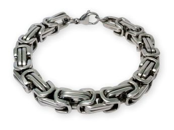 12 mm Square Stainless Steel Byzantine King Chain / Necklace or Bracelet – picture 10