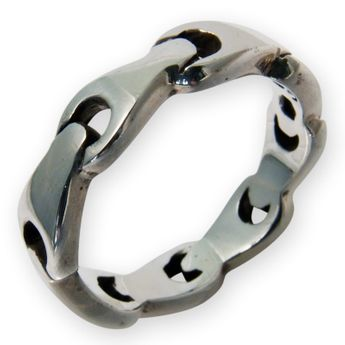 925er Sterling Silber Designer Bandring - Wrench Design