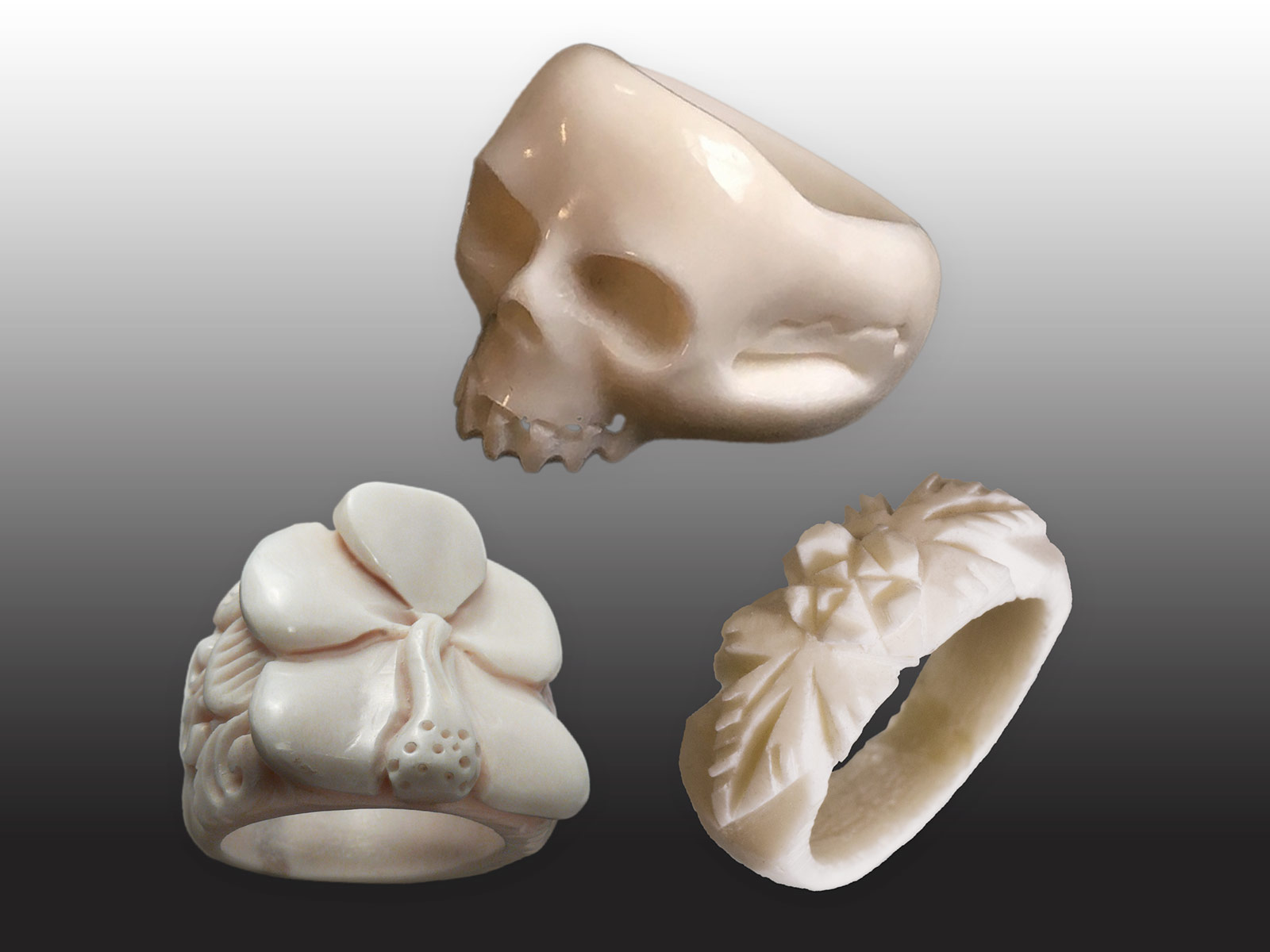 Carved Bone Ring With Different Designs Ceres Webshop