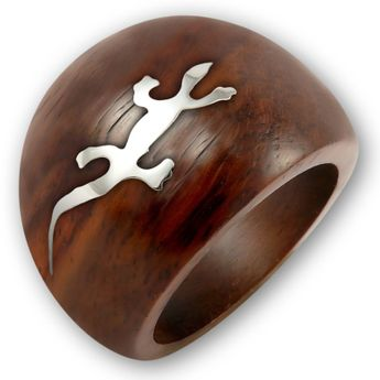 Wood Rings with Silver or Stainless Steel Applications – picture 2
