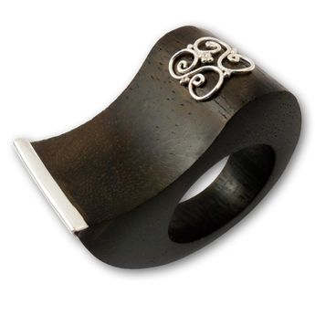 Wood Rings with Silver or Stainless Steel Applications – picture 7