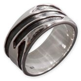 925 Sterling Silber Band Ring - Maori Tattoo Design 001