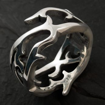 925 Sterling Silver Ring - Rose Thorns – picture 2