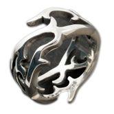 Dornen Tribal Ring echt Silber 925 001