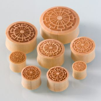 Wood Ear plugs with Laser Engraving (various models) – picture 2