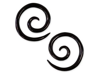 1 pair - 2mm Spiral Earrings from American Buffalo Bone or Horn