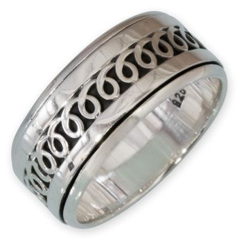 Different moveable 925. Silver Spinning Rings with various Celtic Patterns – picture 4