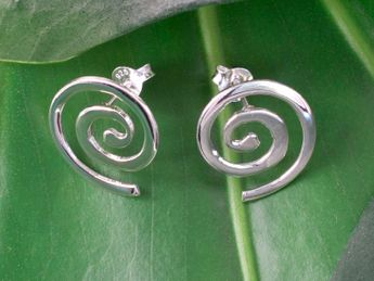 Spiral Ear Studs 925 Sterling Silver – picture 2