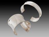Silber Armreif Armspange breit konkav (2 Modelle) 001