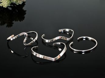 Stylish 925 Silver Bangles (4 Models) – picture 1