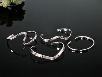 Stilvolle 925 Silber Armspangen -  4 Modelle – Bild 1