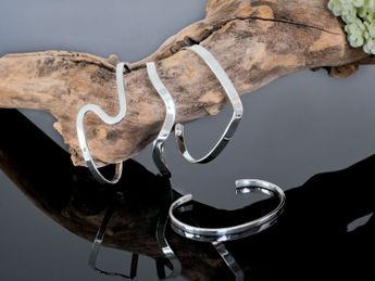 Stylish 925 Silver Bangles (4 Models) – picture 6