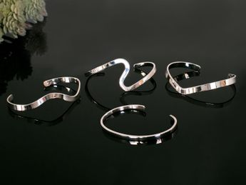 Stylish 925 Silver Bangles (4 Models) – picture 7