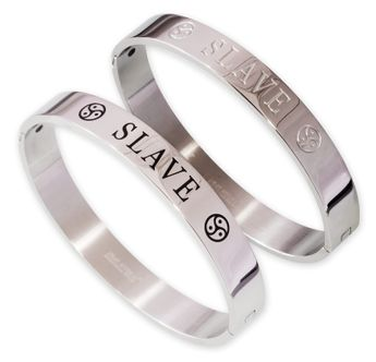 Engraved Bangle Slave 2 models 316L Stainless Steel – picture 1