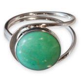 Stein Ringe echt Silber 925 in Jade Optik 001
