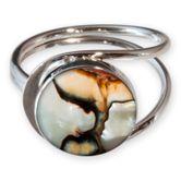 Turbanschnecke Ring Spirale echt Silber 925