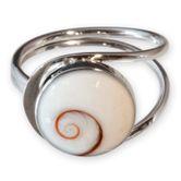 Shiva-Auge Damen Fingerring Spirale Silber 925