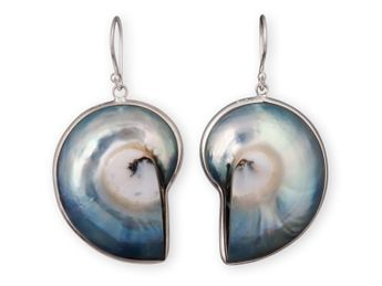 Nautilus Earrings set in Sterling Silver – picture 2