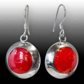 Coral Optics Lady's Earrings Stones 925 Sterling Silver – picture 2