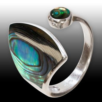 .925 Silver Ring with Paua / Abalone Shell Inlay – picture 2