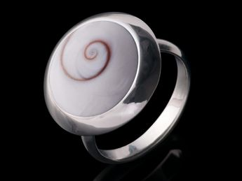 .925 Sterling Silver Rings with Shiva Eye Inlay – picture 3