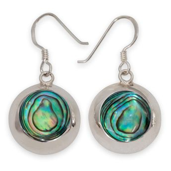 925 Sterling Silver Earrings with Paua Shell / Abalone Inlays – picture 1