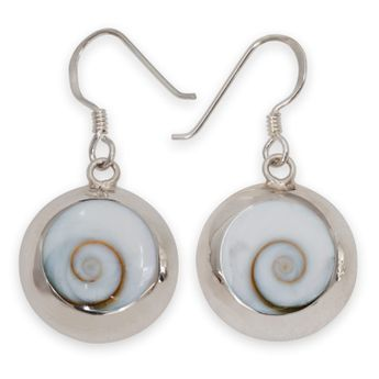 925 Sterling Silver Earrings with Shiva Eye Inlays – picture 1