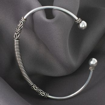 Viking 925 Silver Bangle Model Haithabu – picture 1
